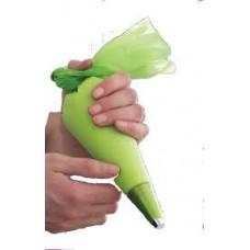 Spuitzak 36cm S groen - Spritzbeutel 36cm S- 100st