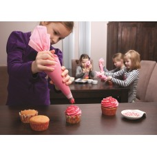 Spuitzak kids roze - Spritzbeutel Kinder rosa 10st