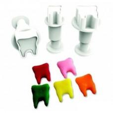 Dekofee uitsteker mini Tanden - (set 3 stuks)