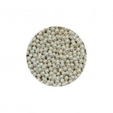 Suikerparels metallic zilver 2mm