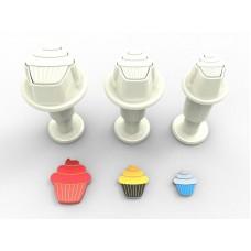 Uitsteker Cupcake - mini (set 3 stuks)