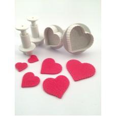 Uitsteker hart patroon (set 4 stuks)