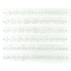 Uitstekerset letters en cijfers Roboto