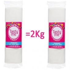 2x Fondant wit 1000 gram- Rolfondant 1kg