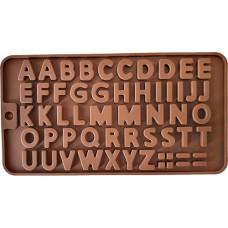 Siliconen Chocoladevorm mal Alfabet Klein - Fondant - Bonbonvorm - Rolfondant