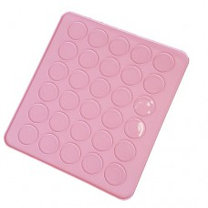 Macarons mat roze siliconen mal 30st