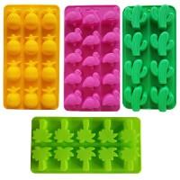 Siliconen set tropische ijsblokjes - Chocoladevorm  - Fondant - Bonbonvorm - Rolfondant