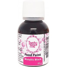 Food Paint Metallic Black 25 gram (Tasty Me)