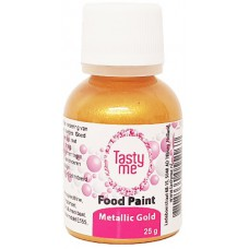 Food Paint Metallic Gold  25 gram (Tasty Me)