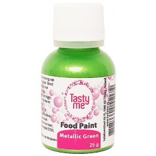 Food Paint Metallic Green 25 gram (Tasty Me)