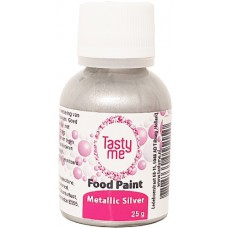 Food Paint Metallic Silver  25 gram (Tasty Me)