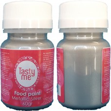 Food Paint Metallic Silver 60 gram (Tasty Me)