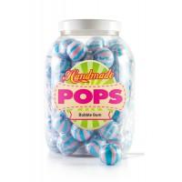 Handmade Pops bubble gum lollies