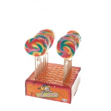 Mini-Spiral Pop Rainbow lollies