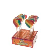 Mini-Heart Pop Rainbow lollies