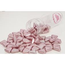 Suiker driehoek metallic roze