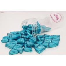 Suiker driehoek metallic blauw