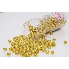 Parels metallic goud 6mm
