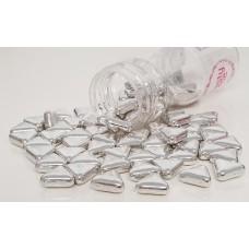 Suiker driehoek metallic zilver