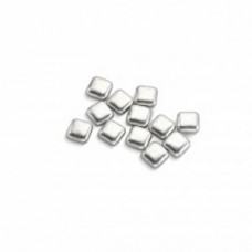 Suiker vierkant metallic zilver 75g